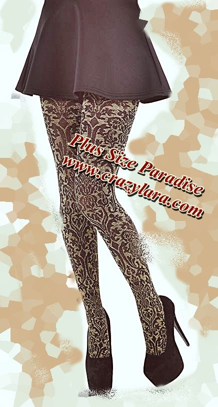 party time! sparkling crazy plus size tights! international delivery for all of our products!