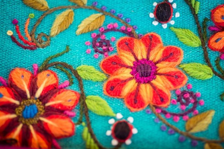 Hand Embroidery from Ayacucho.https://www.facebook.com/PuchkaPeruTextileTours/photos
