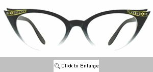 Fete Jeweled Cat Eye Glasses - 539 Black