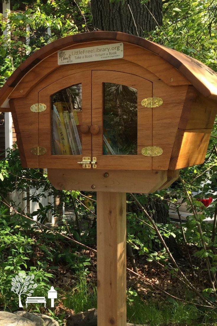 Bev S. Framingham, MA. As a birthday gift, my kids purchased a Little Free Library Charter and my husband built the library. Our home is on a sidewalk that leads to a pond and public beach that is actively used in the summer time.