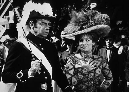 "Walter Matthau and Barbra Streisand in ""Hello Dolly"" (1969) lol. he is the funniest man."