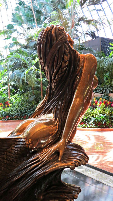 Bronze mermaid statue at The Mirage in Vegas. © Shutrbugz Studios Photography