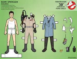 Egon Ghostbusters paper doll