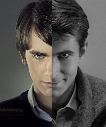 Norman Bates from tv show Bates Motel (Freddie Highmore) VS Norman Bates from movie Psycho (Anthony Perkins)