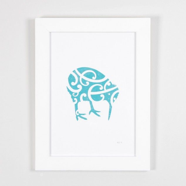 Iwi Kiwi Print by Kinoo