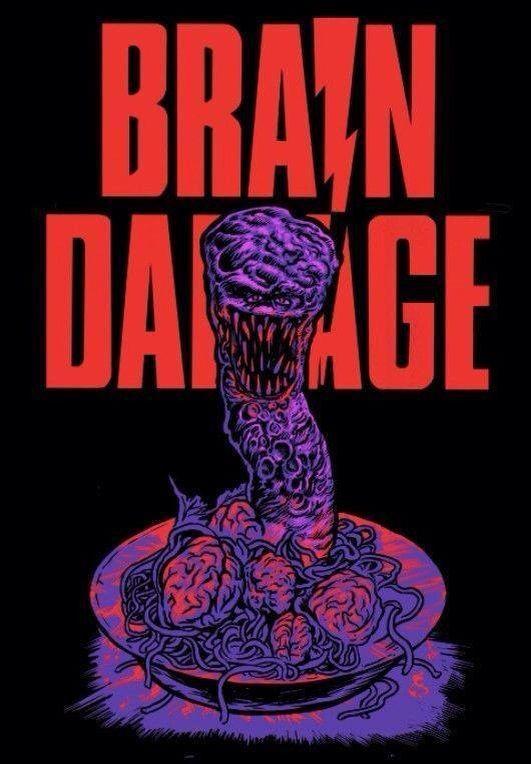 Brain Damage (1988) art / t-shirt design