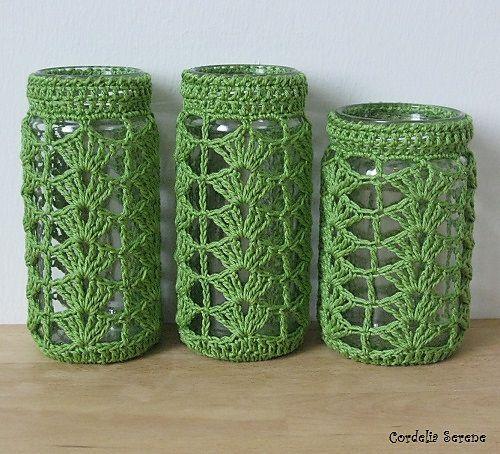 Ravelry: CordeliaSerene's Crochet jar cover
