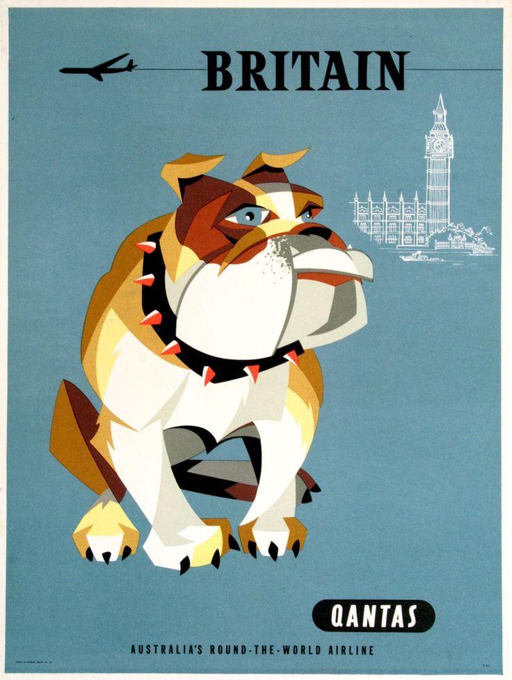 QANTAS - BRITAIN BULLDOG SMALL  by  HARRY ROGERS