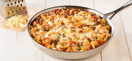 Cook with Campbells. Cheesy Beef Skillet Dinner