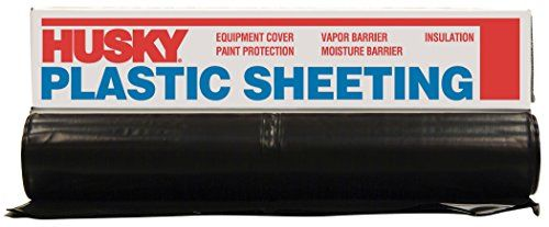 POLY AMERICA 410B 10-Feet X 100-Feet 4 Mil Black Plastic Sheeting - POLY AMERICA 410B 10' X 100' 4 MIL BLACK PLASTIC SHEETING. Used as a dropcloth or spray barrier, a vapor barrier in interior walls or in crawl spaces, primarily used as a barrier in the drywall trade, and used as a cover possibly for curing with concrete.
