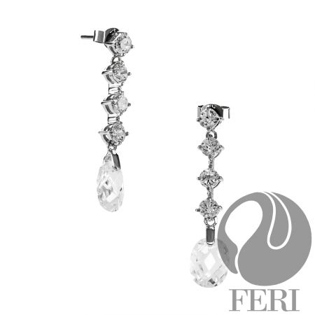 Refined Elegance - Earrings - 0.5 micron natural rhodium plating  - Set with AAA white cubic zirconia https://www.globalwealthtrade.com/vdm/display_item.php?referral=stephjames&category=66&item=5464&cntylng=&page=1