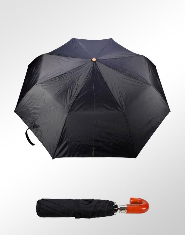Guarda-Chuva Ronchetti Executivo. Compacto, com abertura automática, Cabo de Madeira, Haste de Alumínio, 8 varetas, tecido 100% nylon.