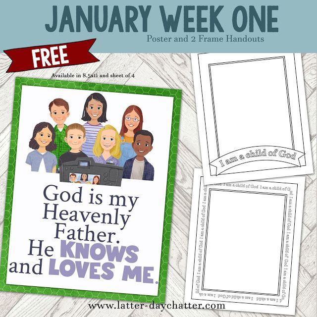 Latter-day Chatter: January Week 1 Poster and Frames