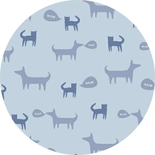 Windham Fabrics, Neighborhood, Cats and Dogs Light Blue
