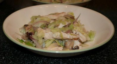 Budget101.com - - Dirt Cheap Healthy Dinner Idea boneless chicken with cabbage saute