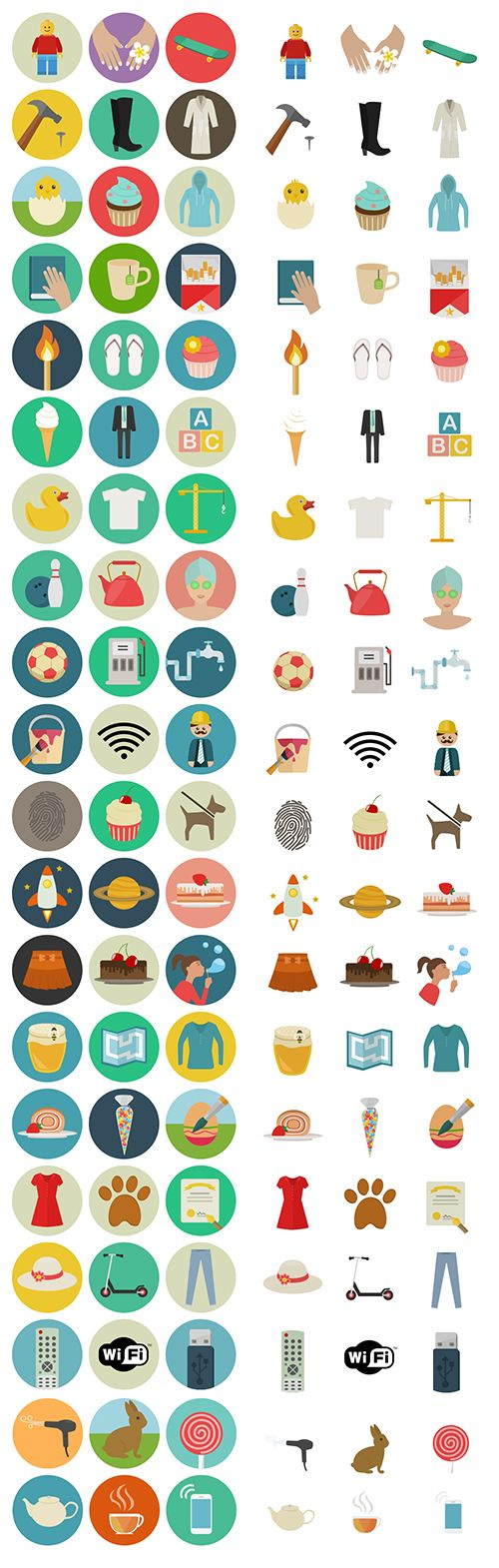 Freebie: Flat Icon Set (60 Icons, PNG, SVG, EPS, PSD, AI) | Smashing Magazine