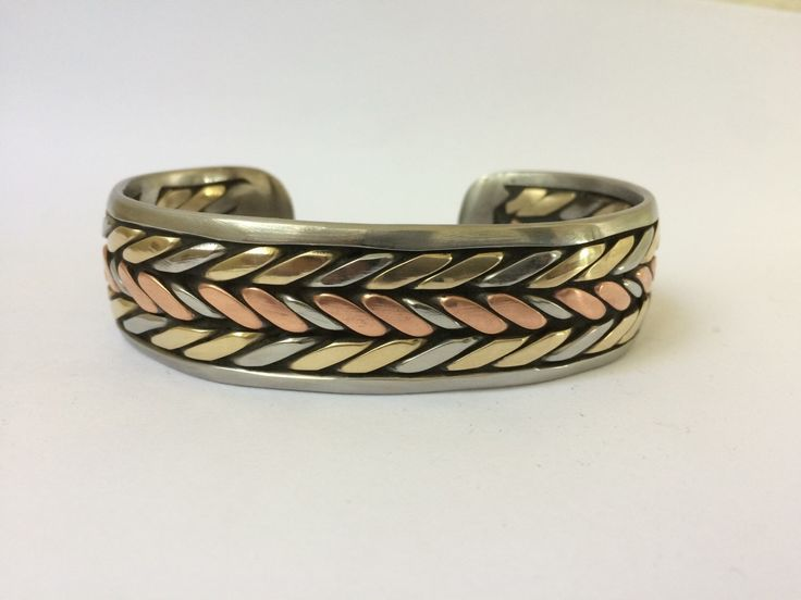 Bronze Copper Stainless Welder Bracelet by BigWeldJohnnyRay on Etsy https://www.etsy.com/listing/255059905/bronze-copper-stainless-welder-bracelet