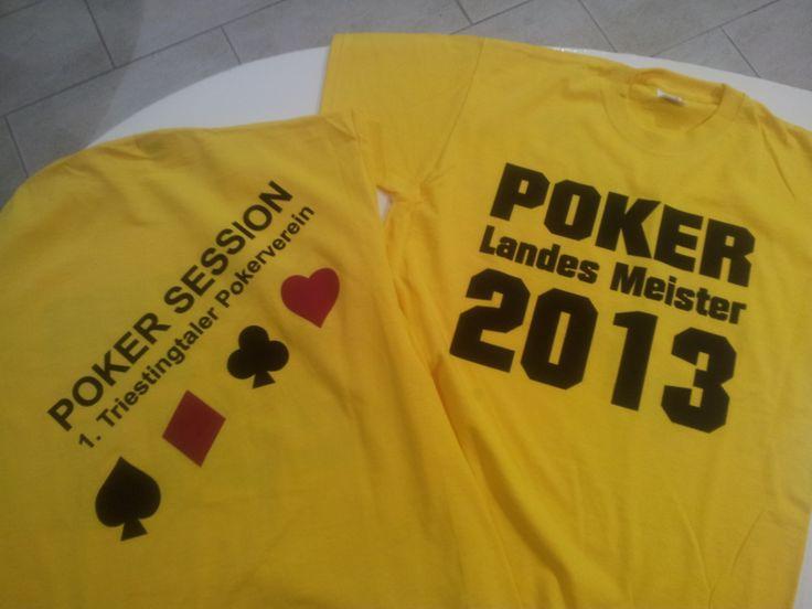 Neue T-Shirts für den 1. Triestingtaler Pokerverein...