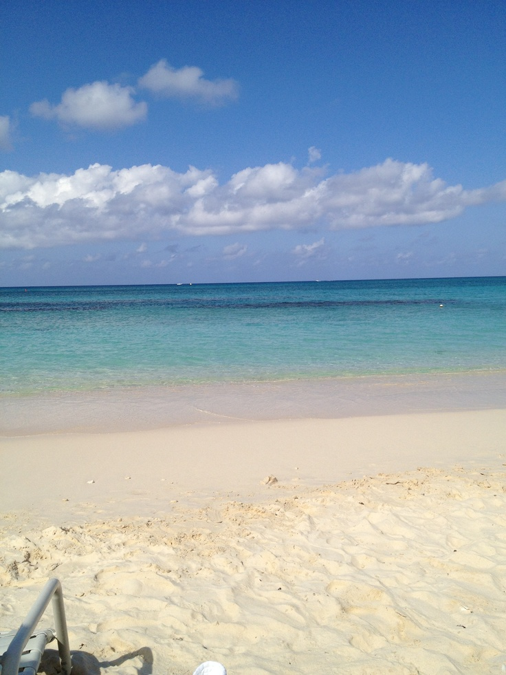 Grand Caymen island, seven mile beach!!! The most beautiful beach I've ever been to!