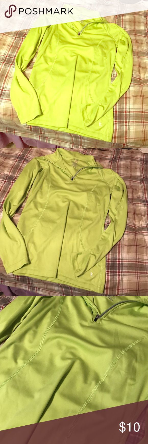 Small lime green shirt Small lime green athletic dri fit shirt Tops Tees - Long Sleeve