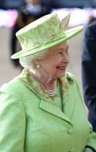 Queen Elizabeth II attended The Royal Marines 350th Anniversary Beating Retreat at the Royal Horse Guards Parade