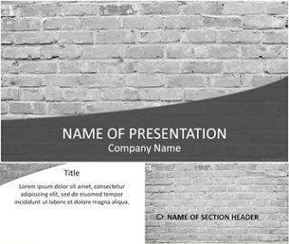 Template para PowerPoint parede de tijolos | Fundos para PowerPoint