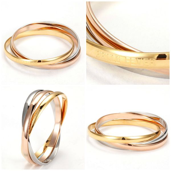 Three Tone Bangle Set