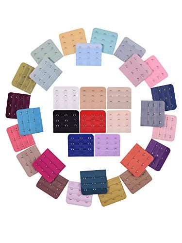 eBoot 32 Pieces Bra Strap Extender Bra Extension, 3 Row 3 Hook, Assorted Colors >>> Visit the link on the image. Amazon Affiliate Program's Ads.