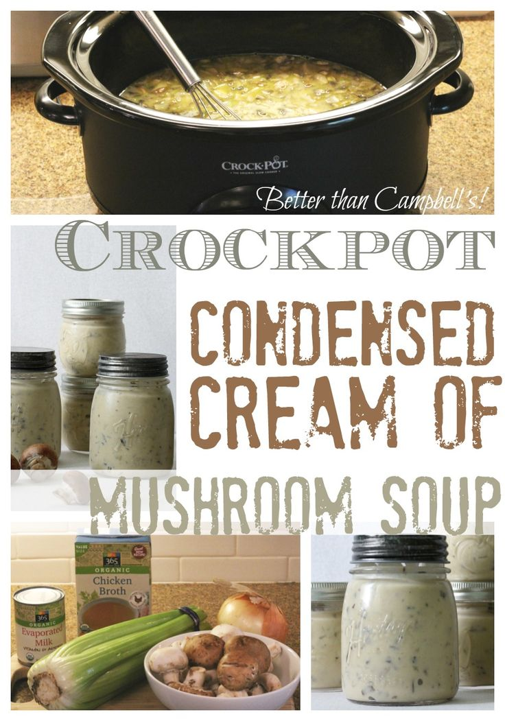 Better Than Campbell S Crockpot Condensed Cream Of Mushroom Soup Crockpot Recipes Campbells