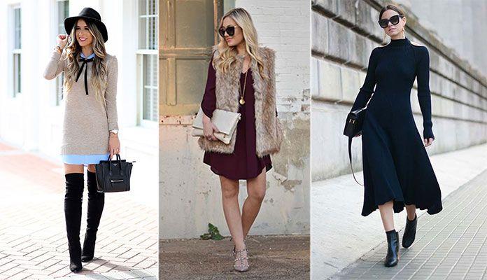 Πως να φορέσετε ένα φόρεμα τον Χειμώνα