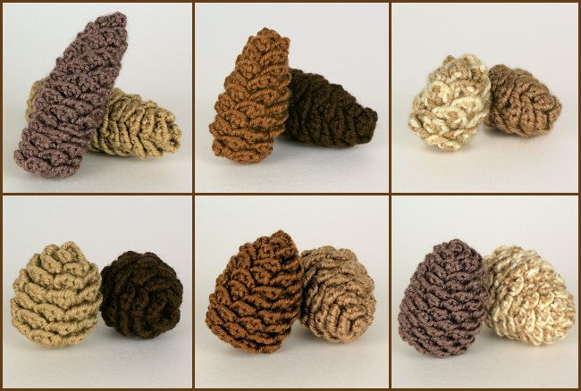 Pine Cone Collection: SIX realistic crochet patterns $