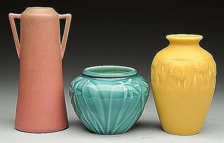 Three Rookwood Vases Dating to 1918, 1941, and 1930