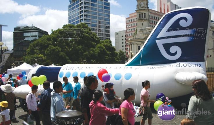 inflatable aircraft themed jumping castle for Air newzealand