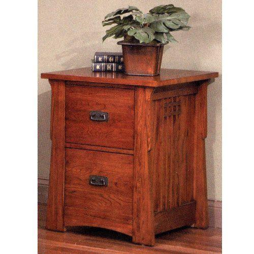 Quarter Sawn Oak Mission Craftsman File Cabinet