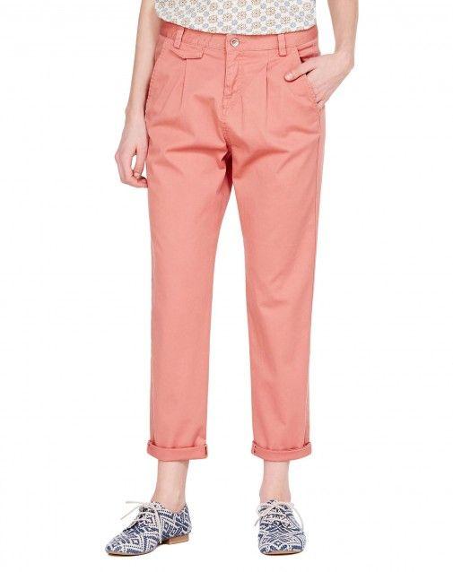 Αγόρασε Παντελόνι chino regular fit Ροζ για Παντελόνια στο επίσημο κατάστημα της United Colors of Benetton.