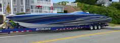 Outerlimits Powerboats: The SL 52 with twin 1350hp mercury engines will achieve speeds of 138 mph. Truly a unique vessel.