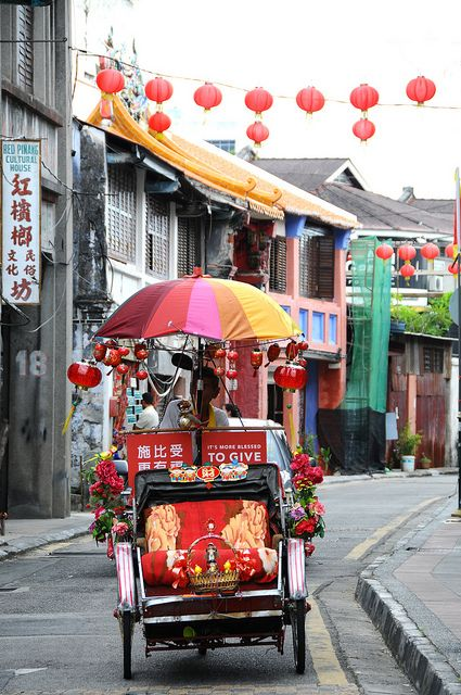 ☮ Travel Asian, Malaysia. Trishaw