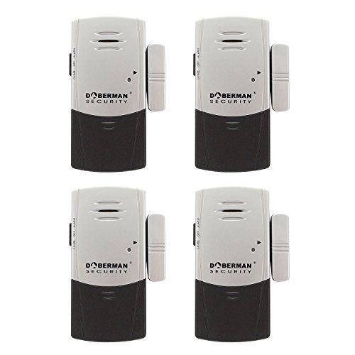 Special Offers - DOBERMAN SECURITY Door & Window Alarm with Chime SE-0101C-4PK  Unique Ultra-Slim Design Fits Sliding Windows (Silver/Black) - In stock & Free Shipping. You can save more money! Check It (September 19 2016 at 07:25AM) >> http://smokealarmusa.net/doberman-security-door-window-alarm-with-chime-se-0101c-4pk-unique-ultra-slim-design-fits-sliding-windows-silverblack/