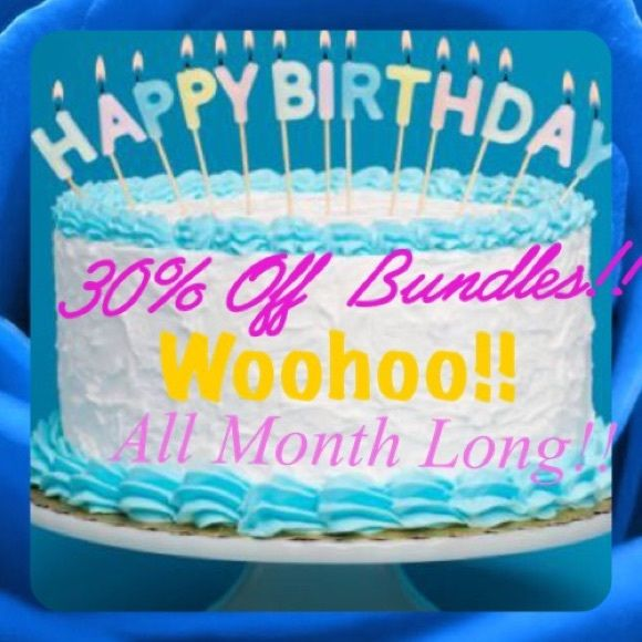 30% OFF BUNDLES!! ALL THRU MARCH It's My Bday! I love to celebrate my birthday! So I hope you will all join me! I am giving 30% off bundles of 2 or more items!!! Woohoo!! Can't beat that with a bat!! Use bundle feature for preloved items or ask me to make you a listing for retail items!! Please SHARE Accessories Hats