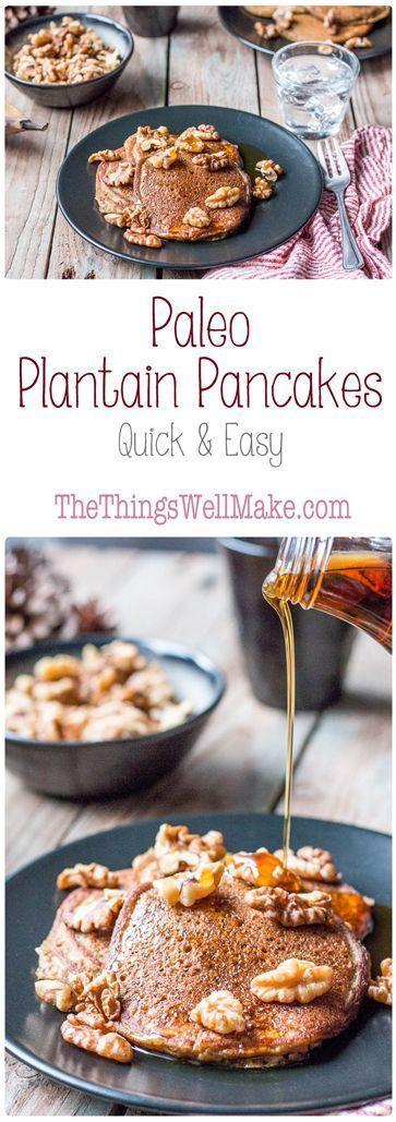 Paleo Plantain Pancakes - Rubies & Radishes