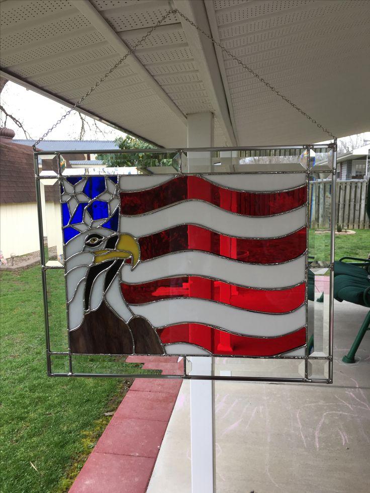 Eagle and flag panel