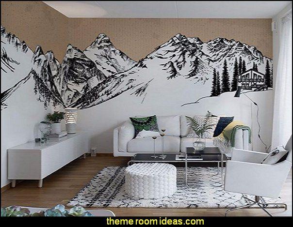 Snowy Slopes Bedrooms Ski Cabin Decorating Ski Lodge Decor