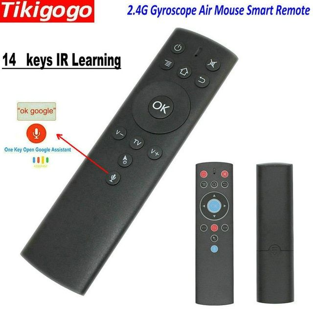 Tikigogo T1M 2.4G Voice Air Mouse Microphone IR Learning