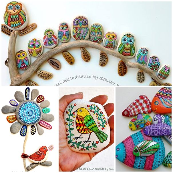 How beautiful and creative are these painting stones and pebbles ! Check instructions--> http://wonderfuldiy.com/wonderful-ideas-for-painting-stones-and-pebbles/