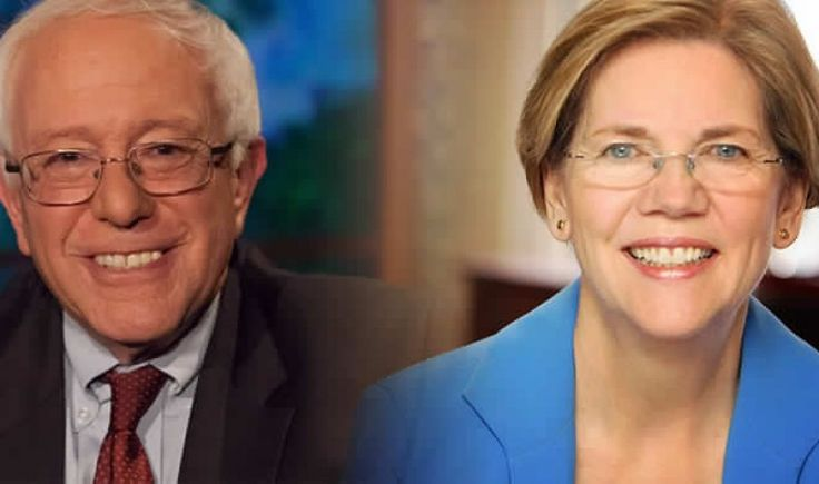 """Bernie Sanders and Elizabeth Warren Attack Predatory Wall Street Bankers   Nation of Change   """"As Wall Street bankers & fund investors continue making a profit at the expense of Puerto Rico's failing economy, Senators Warren & Sanders are calling f/the Treasury to show more leadership & give the people the relief they need."""" Click to read & share the full article."""
