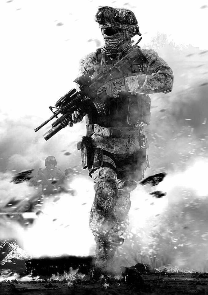 Fighting Soldier In Hail Of Bullets IPhone Wallpaper