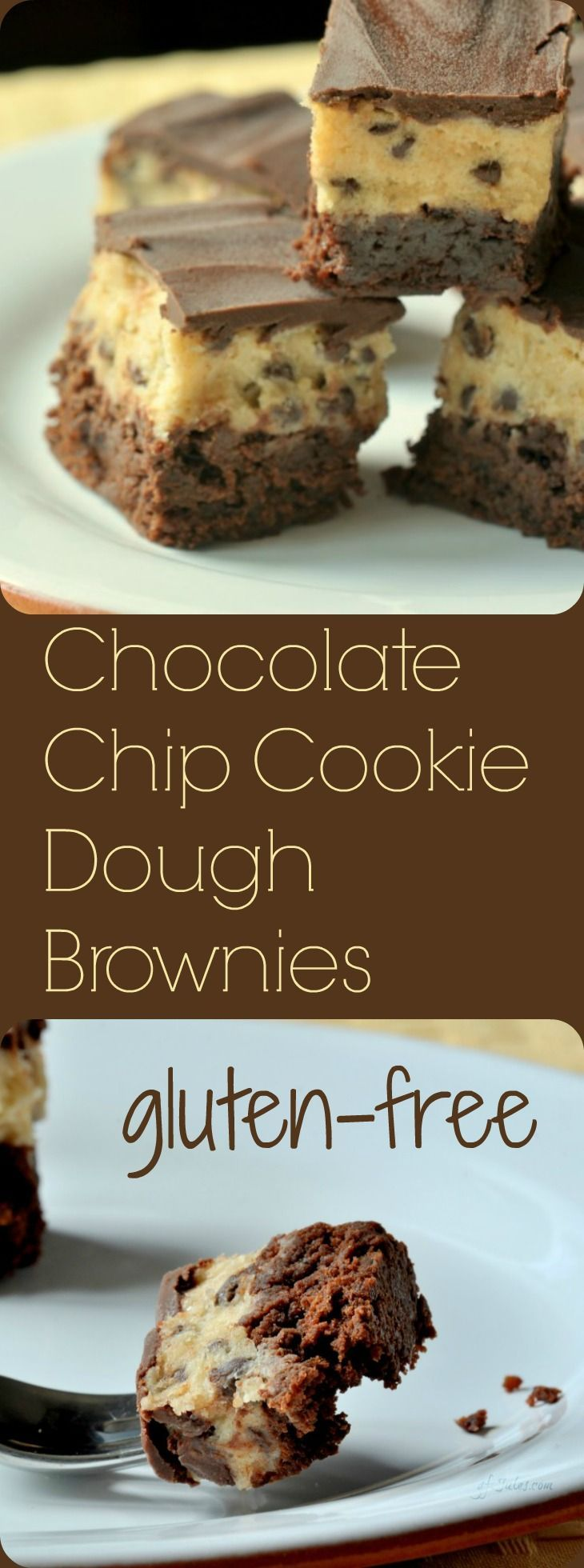 Gluten free chocolate chip cookie dough brownies recipe