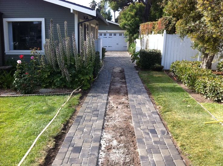Good Home Constructionu0027s Renovation Blog: Bungalow Ribbon Driveway With  Pavers. Brick DrivewayDriveway DesignDriveway IdeasBungalow ...