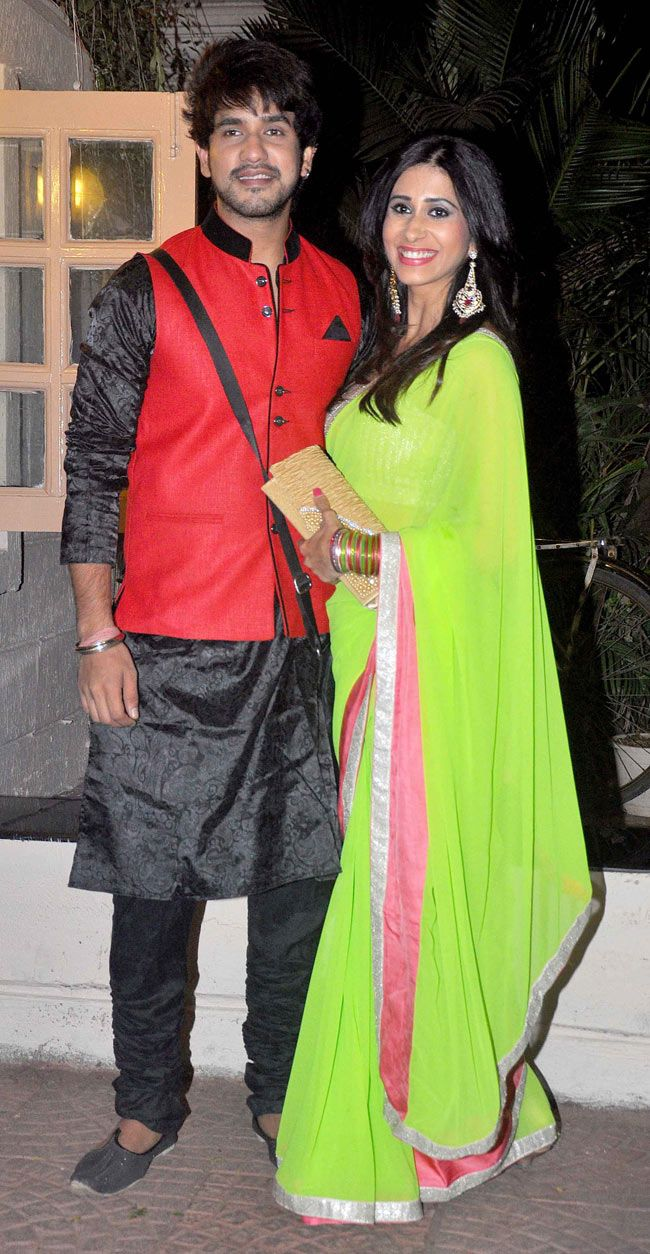 Suyash Kumar and Kishwer Merchant at Ekta Kapoor's Diwali bash.