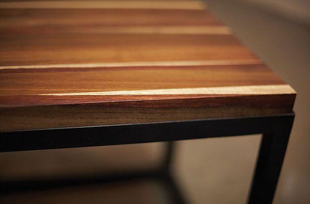 Wood & Steel #Kiaat #Side Table #ToTheSouth